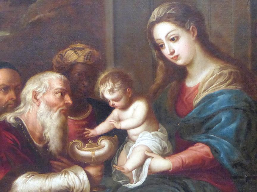 Detalle de Adoración de los Reyes Magos de Bocanegra